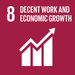SDG8: Decent Work and Economic Growth+image