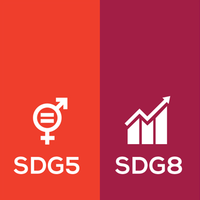Sussex University 2019 Research: SDG5 Gender Equality & SDG8 Decent Work+Image